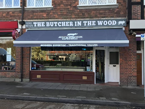 The Butcher In The Wood Shop Awning