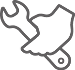Grey Spanner Icon