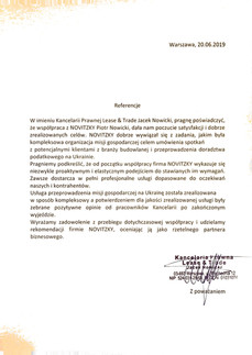 Kancelaria Prawna Lease & Trade Jacek Nowicki