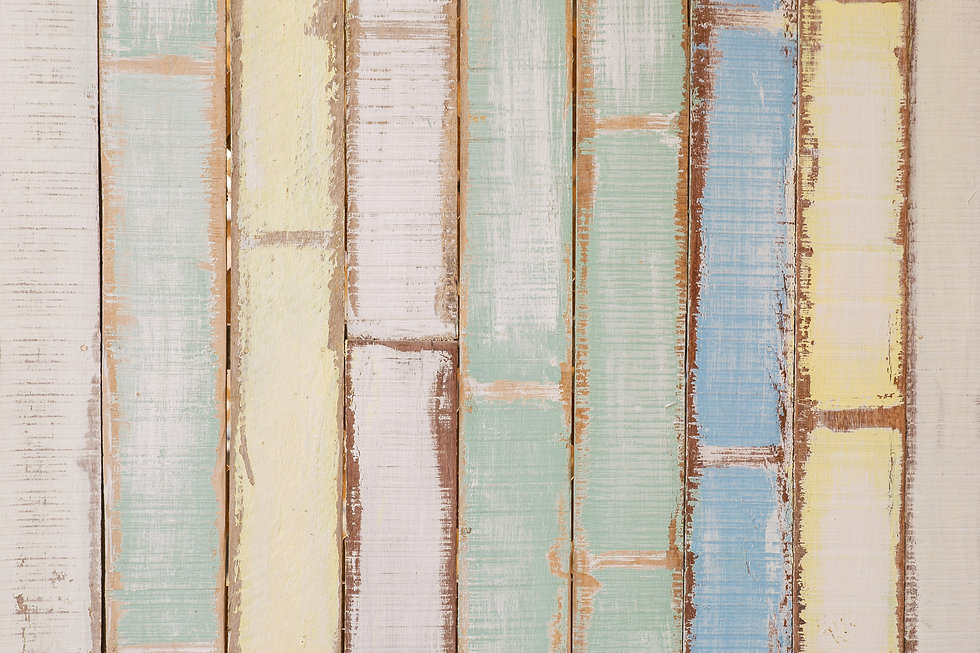 Canva - Yellow, Blue, and Green Wooden W