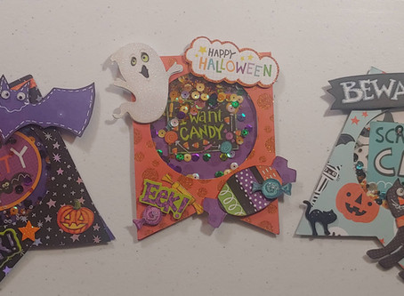 Day 5 of the 12 Days of Halloween brings us Halloween Shaker Embellishments!