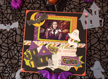 Day 10 of the 12 Days of Halloween Layout Share