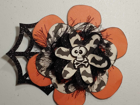 Day 10 of the 12 Days of Halloween Showcases Chunky Halloween Flower Embellishments