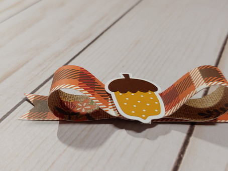Super Easy Fall Paper Bow