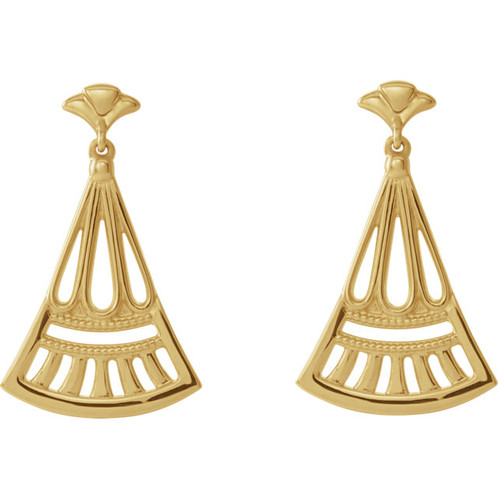 Art Deco Inspired Earrings Measuring 22 03x16 04mm Are Shown In Sterling Silver And Also Available 14k Rose Gold White