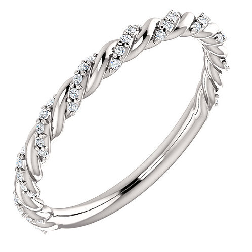 Diamond Pave Twist Band