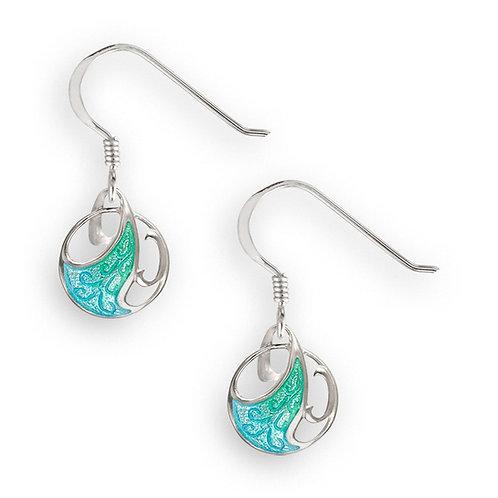 Art Nouveau Wave Earrings