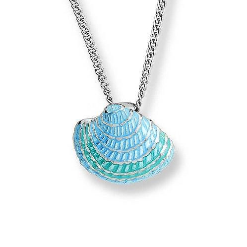 Enamel Seashell Pendant