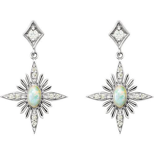 Opal Celestial Earrings