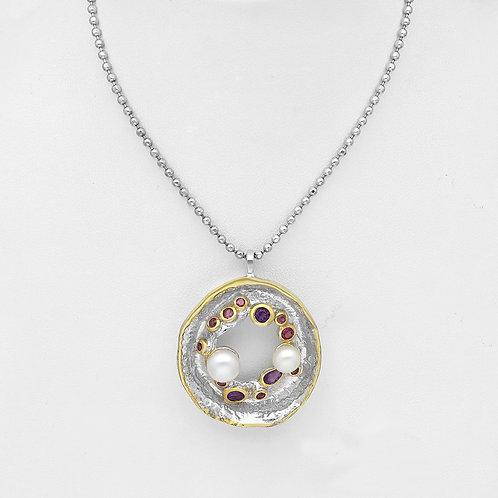 Pearl and Gemstone Pendant