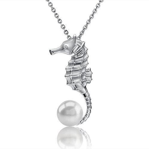 Pearl Seahorse Pendant