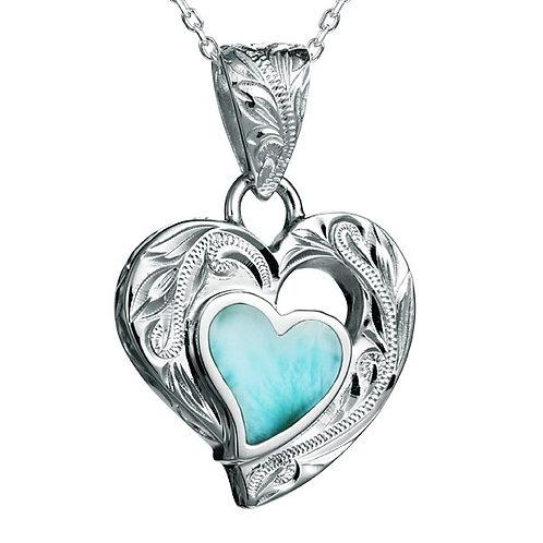 Larimar Heart Pendant
