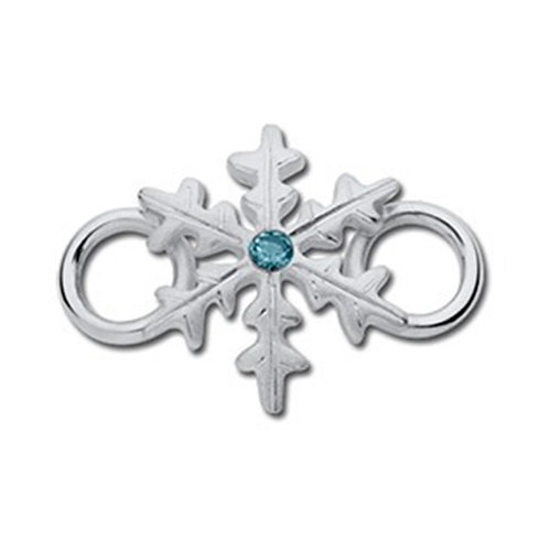 Blue Zircon Snowflake Clasp