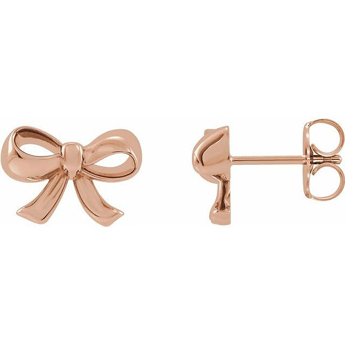 14k Bow Earrings