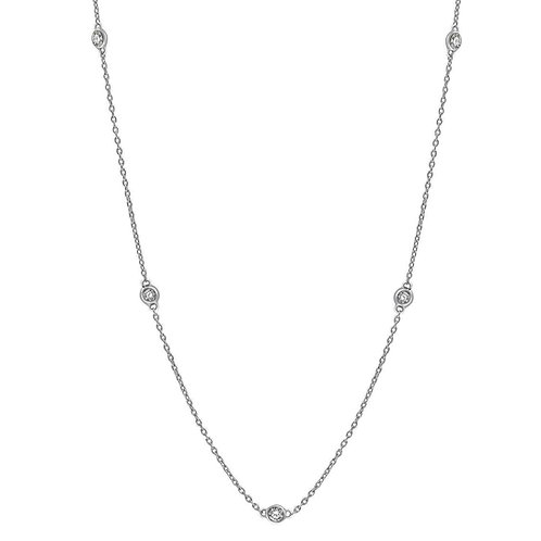 Diamond chain Station Necklace