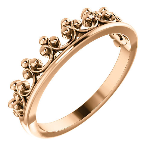 Stackable Clover Crown Ring