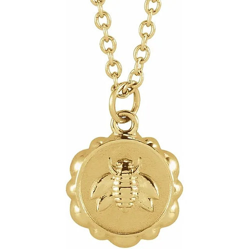 Honey Bee Medallion Pendant