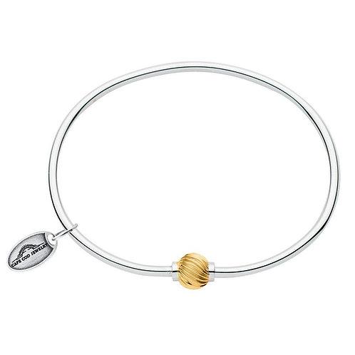 14k Yellow Gold Twist Bead Bracelet