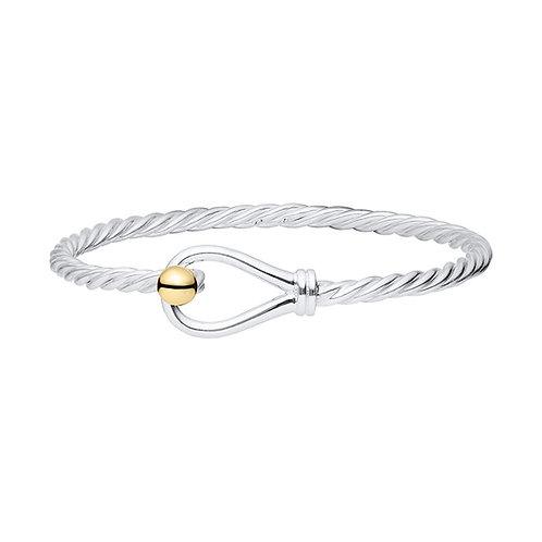 Loop and Twist Bracelet with Gold