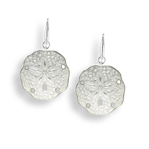 White Sand Dollar Earrings