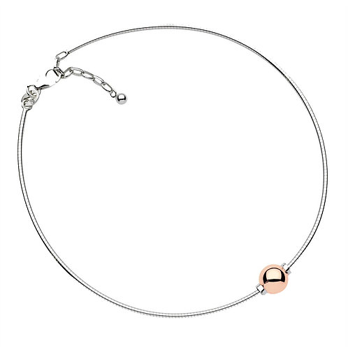 Anklet With Single 14k Rose Gold Bead