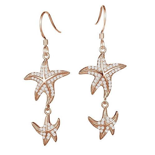 Pave Starfish earrings