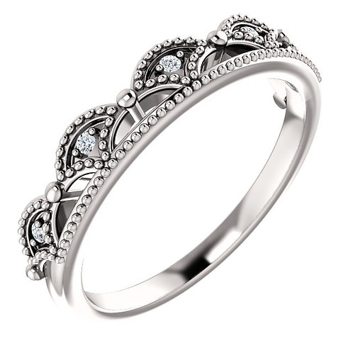 Stackable Diamond Crown Ring