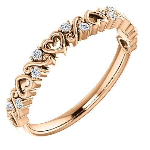 Diamond Heart Band