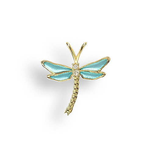 18k Diamond Dragonfly Pendant