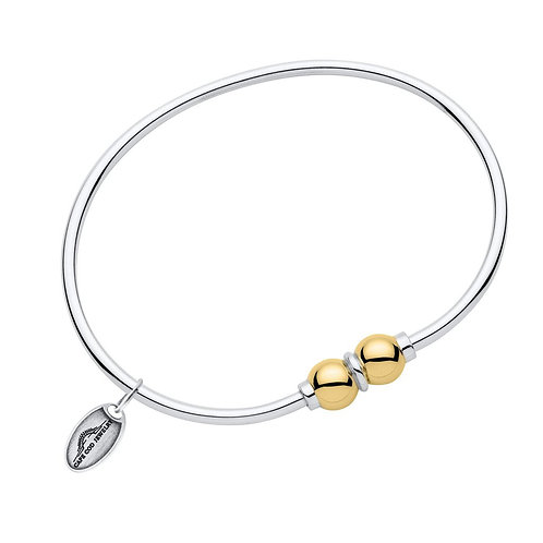 Double Bead Bracelet With 14k Yellow Gold