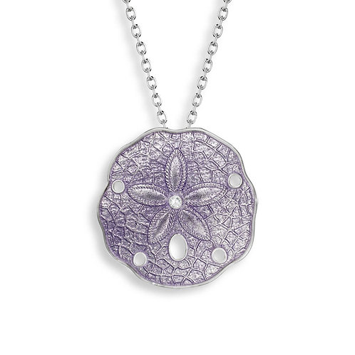 Purple Sand Dollar Pendant