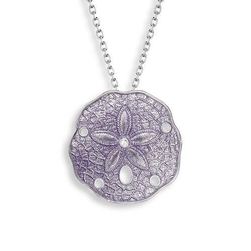 Purple Sand Dollar Pendant