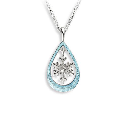 Blue Snowflake Pendant