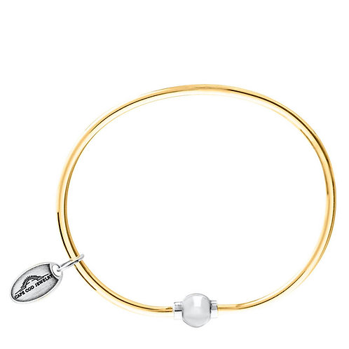 14k Gold Plated Single Bead Bracelet