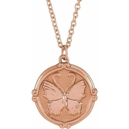 Butterfly Medallion Pendant