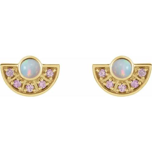 Art Deco Inspired Fan Earrings