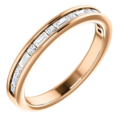 Princess and Baguette Diamond Band