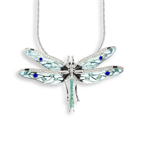 Sapphire Dragonfly Pendant