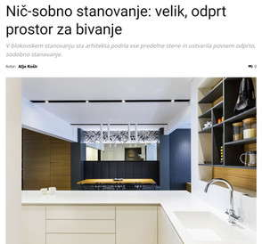 Zero Room Apartment published in Ambienti, Slovenia