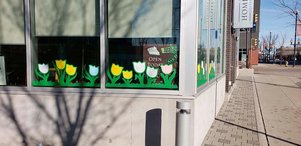 HomeQuarter Coffee House Spring Window