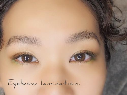 恵比寿マツエクサロンのブロウラミネーション眉毛パーマデザイン
