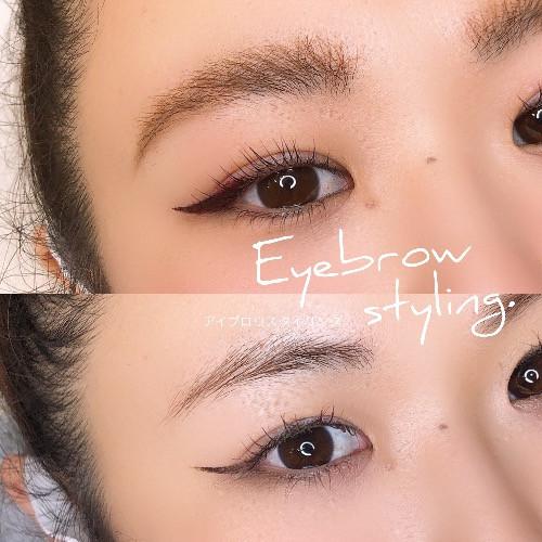 恵比寿マツエクサロンのまつげパーマとブロウラミネーション眉毛パーマデザイン