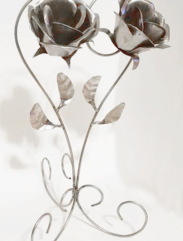 Metal Couple Flowers