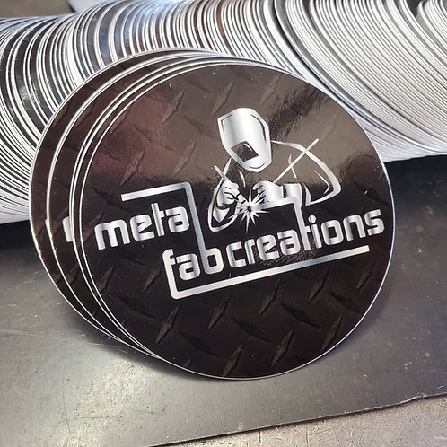 Metal Fabcreations Logo Sticker