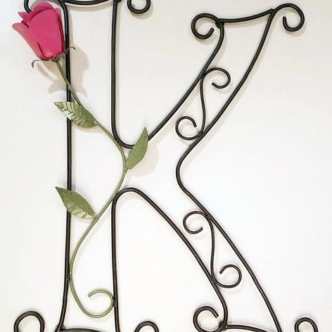 Custom Metal K Letter Painted