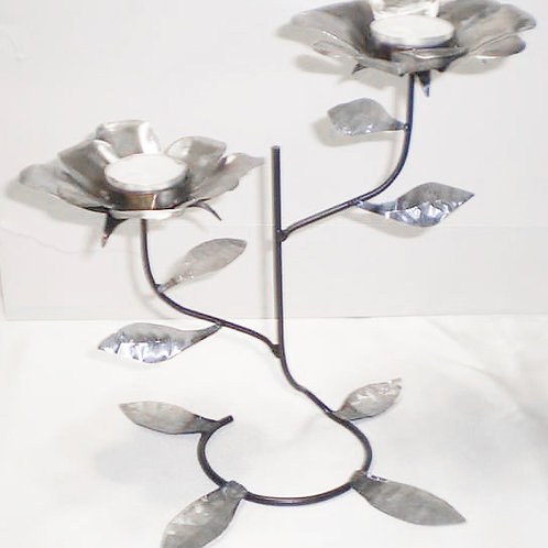 Metal Flower Tea Light Candle Holder