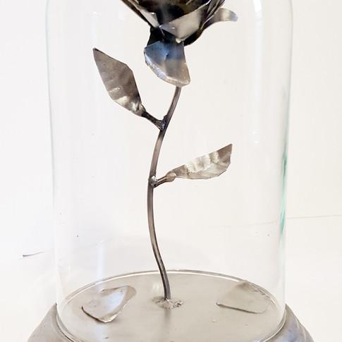 Metal Custom Rose Under Glass View 2