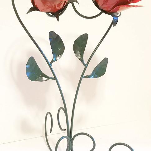 Metal Flower Couple Painted