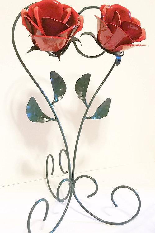 Metal Flower Couple