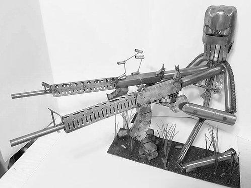 Metal Army Man Sculpture